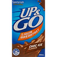UP&GO 12 Pack Choc Ice Flavour School Liquid Breakfast Drink, 250 Milliliters