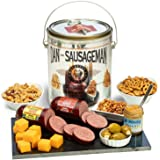 Dan the Sausageman's Perfect for the Palate Gift Basket -Featuring Dan's Summer Sausage, Sweet Hot Mustard, and 100% Wisconsi