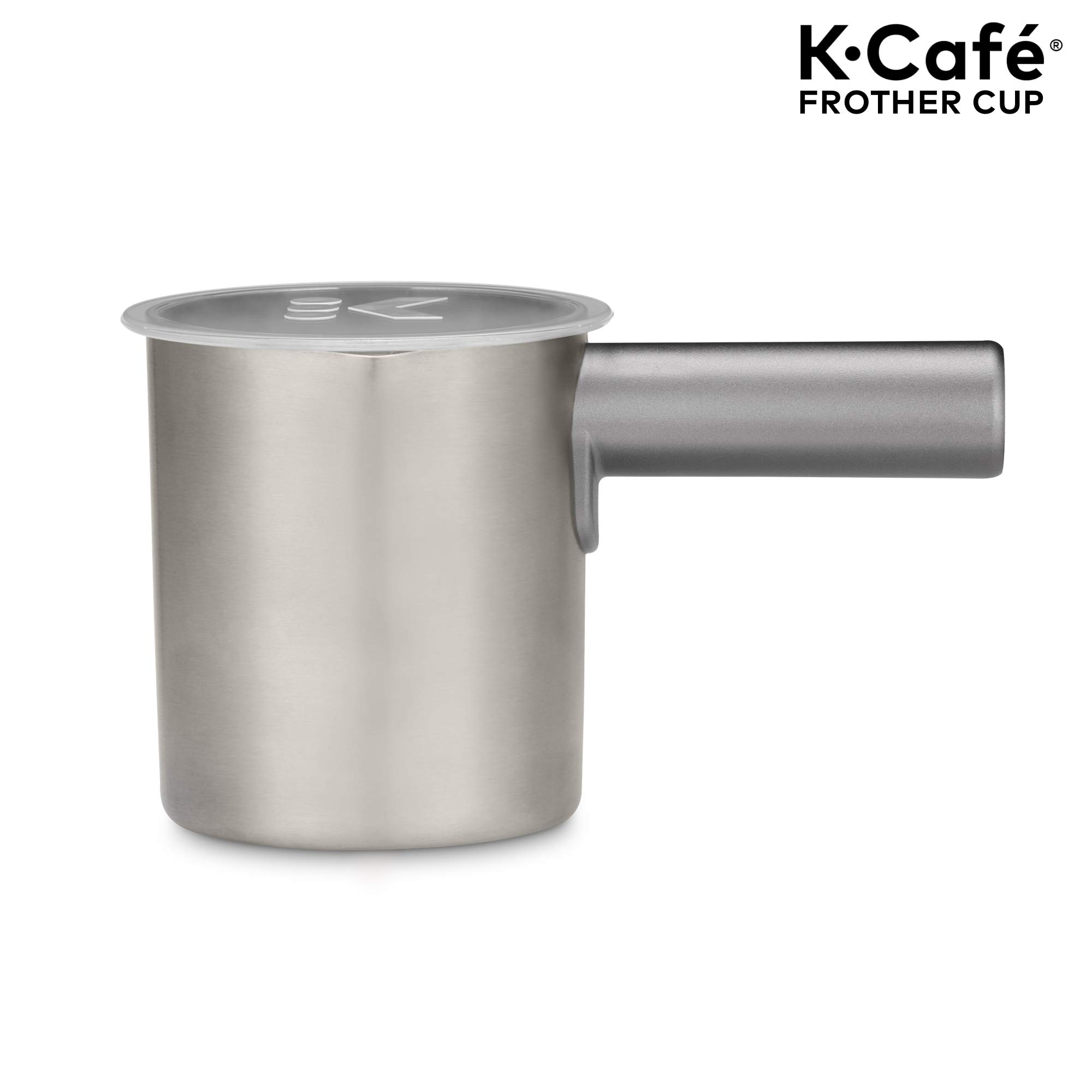 Keurig K-Café Milk Frother, Works with all Dairy and Non-Dairy Milk, Hot and Cold Frothing, Compatible with Keurig K-Café Coffee Makers Only, Nickel