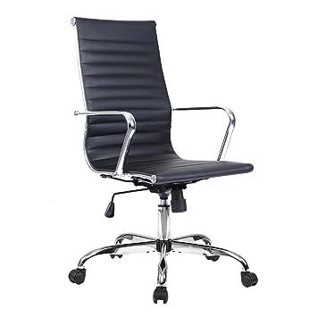 Drehstuhl ergonomisch  Costway Bürostuhl Bürodrehstuhl Schreibtischstuhl Chefsessel PU ...