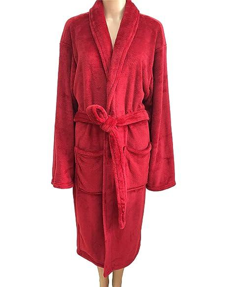 Bathrobes for Women House Long Fleece Solild Robe Luxurious Super Soft  Plush Warm Bathrobe 04edd1f2a