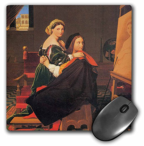 3dRose BLN Paintings of Love Fine Art Collection - Raphael and the fornarina by Jean-Auguste-Dominique Ingres - MousePad (mp_127169_1)