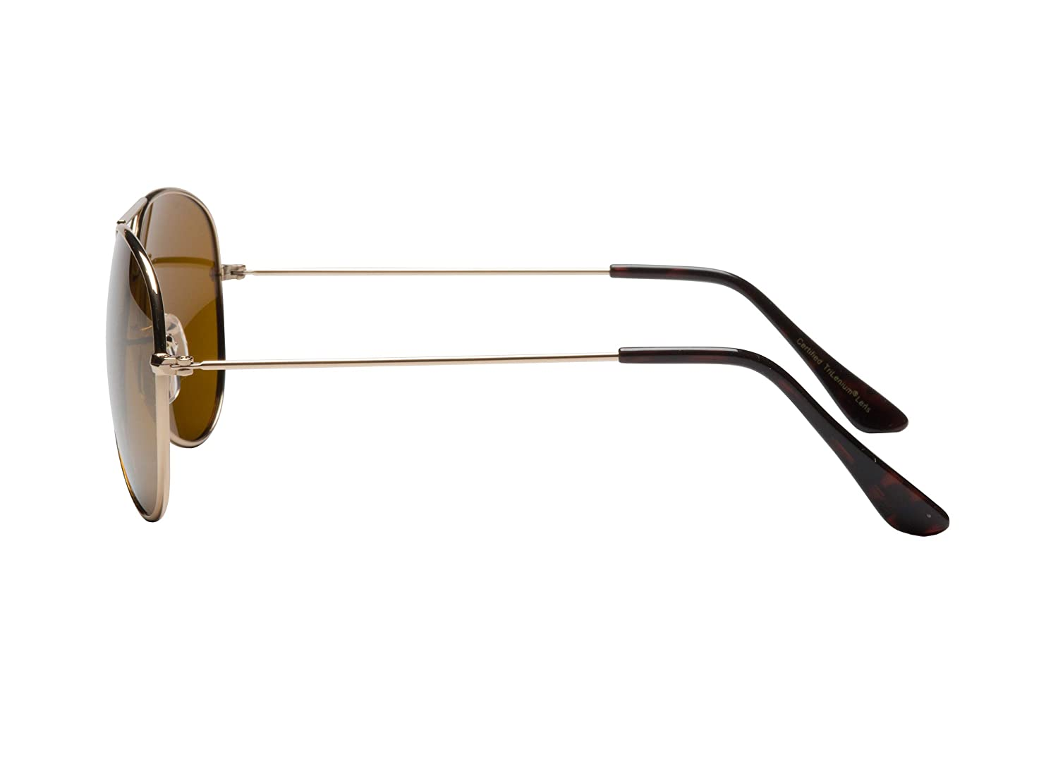 be9915f1a5 Amazon.com  Eagle Eyes Classic Aviator Sunglasses - Stainless Steel Frame ( Gold