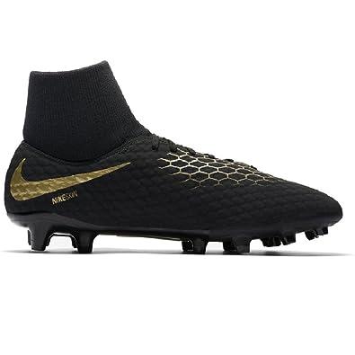 dedb7c96e531 Amazon.com | Nike Hypervenom Phantom 3 Academy Dynamic Fit FG Soccer Cleats  (11, Black/Gold) | Soccer