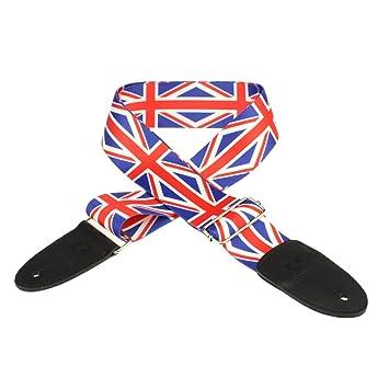 Zuanjia correa para guitarra CUSTOM - Correa de guitarra (ajustable), diseño de bandera británica: Amazon.es: Instrumentos musicales