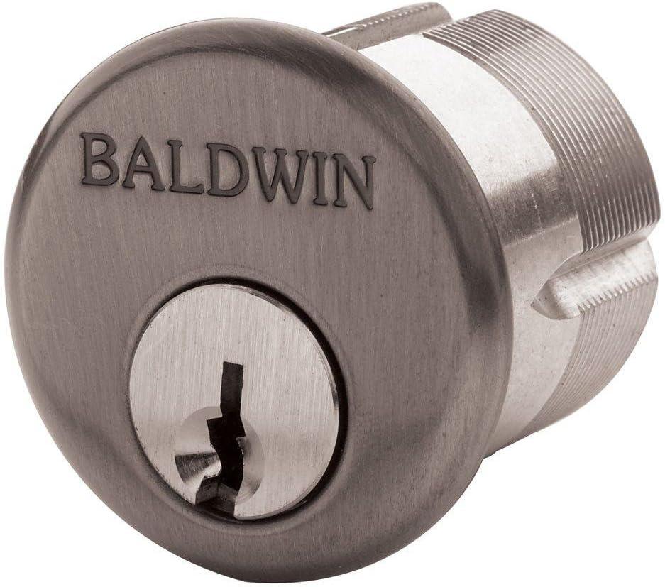 "Baldwin 8323.102 Oil-Rubbed Bronze Mortise Cylinder C Keyway,1-1/4"""