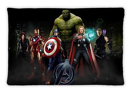 El diseño de los Vengadores decorar funda de almohada con ...