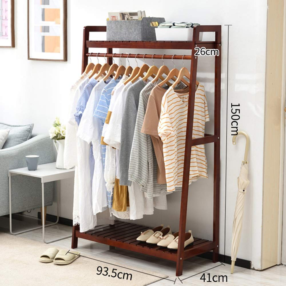 Amazon.com: COAT RACK ZHIRONG 2 in 1 Solid Wood Hangers ...