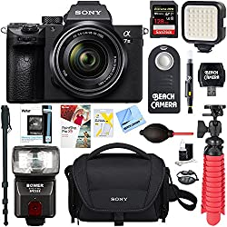 Sony A7iii Full Frame Mirrorless Interchangeable Lens Camera With 28-70mm Lens + 128gb Memory & Flash A7iii Accessory Bundle