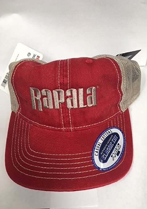 18eda97a1d810 Image Unavailable. Image not available for. Color  Rapala Classic Cap  Red Tan Mesh Center Logo