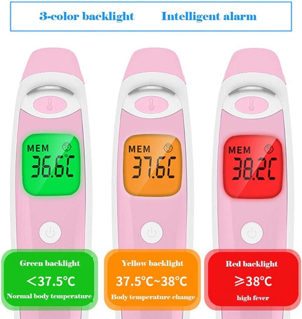 HHGO Fieberthermometer F/ür Babys Erwachsene Stirn Ohren Achsel Abdomen,ber/ührungsloses Digitales Medizinisches Infrarot Thermometer,Hintergrundbeleuchtung Mit 3 Farben,Fieberalarm