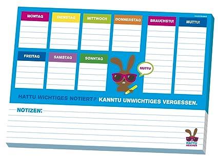 Moses Hattu - Agenda planificadora semanal, formato A4 ...