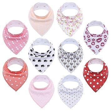 Multi Pattern Baby Bib Bandana Drool Girl Boy gift