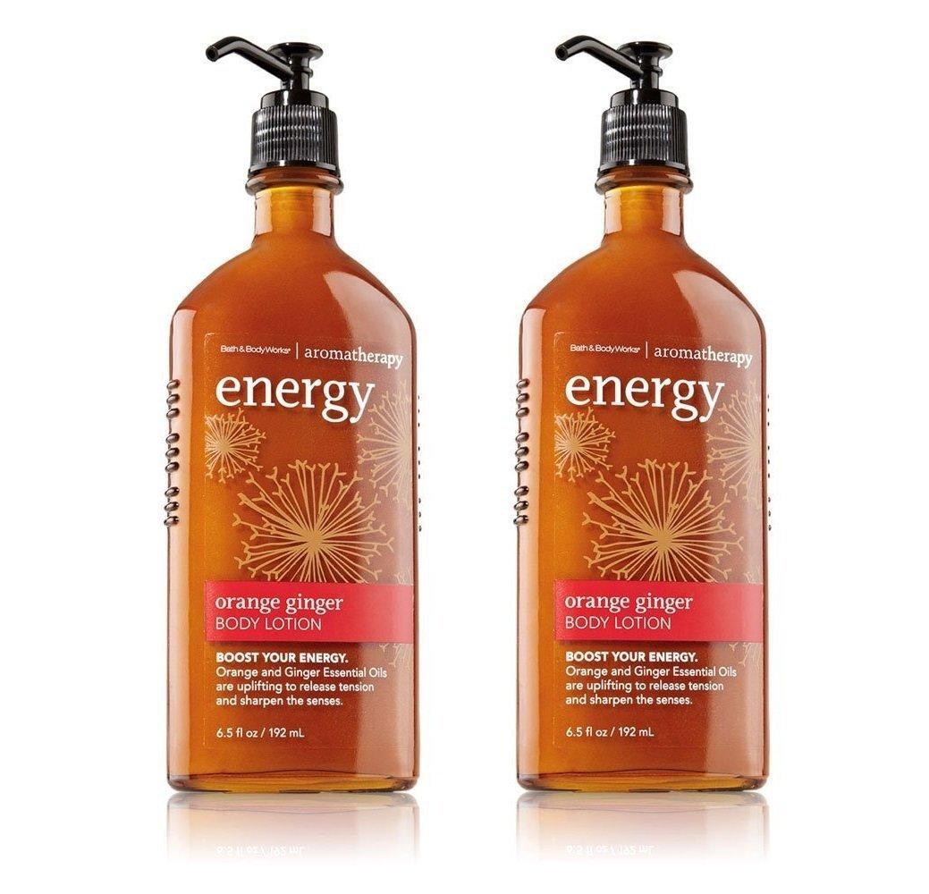 Bath and Body Works Aromatherapy Energy - Orange Ginger Body Lotion 6.5 oz (2 Pack)