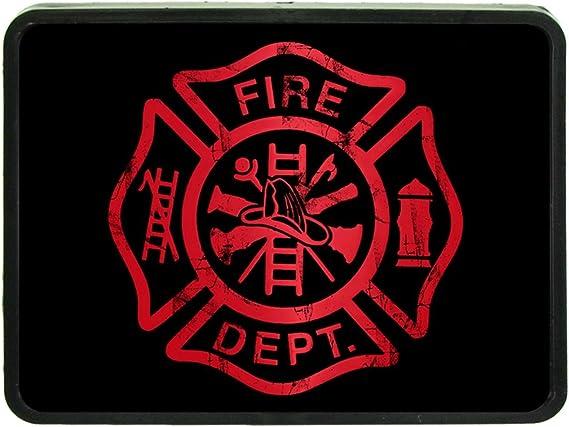 American Firefighter Emblem Custom Hitch Plug for 2 receiver from Redeye Laserworks