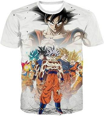 Fittrame - Camiseta de Manga Corta con diseño de Dragon Ball para Hombre y niño Be01 S: Amazon.es: Ropa y accesorios