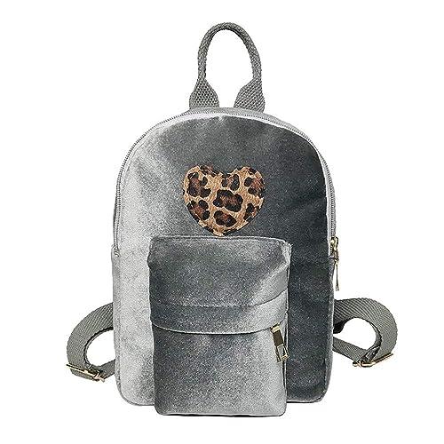 2e112606ae25c Ansenesna Rucksäcke Für Mädchen Teenager Klein Samt Elegant Taschen Damen Freizeit  Backpack Für Outdoor Reise (