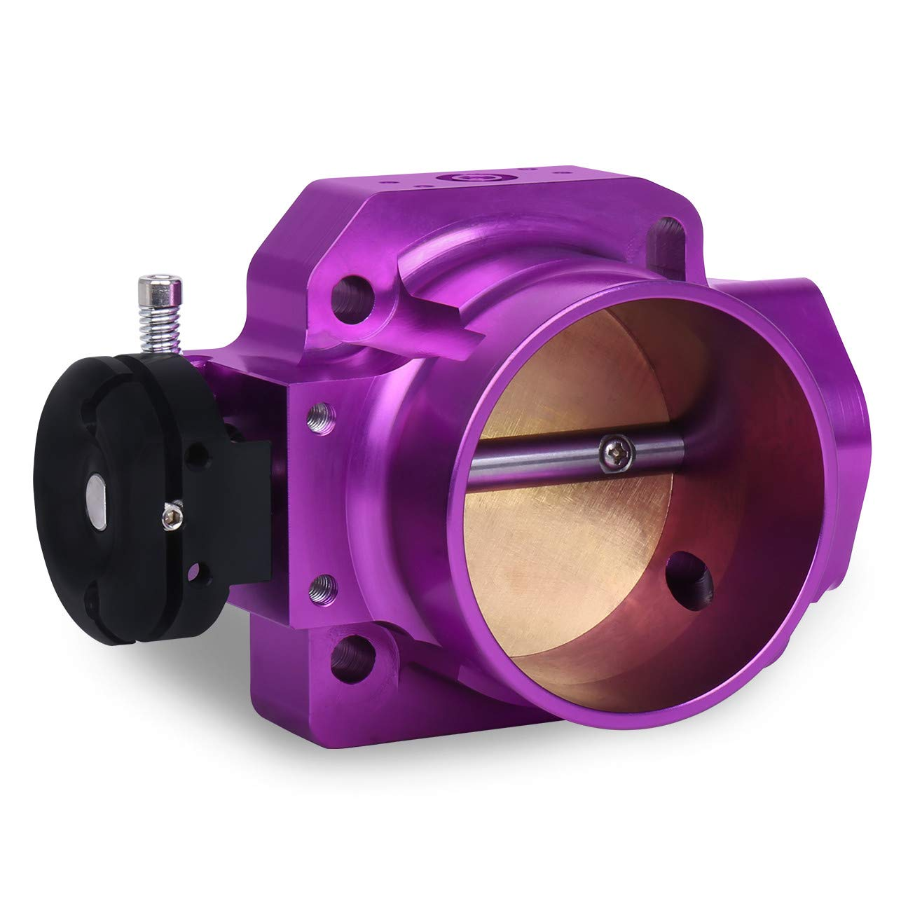 70MM Bolt On Aluminum Intake Manifold Throttle Body B D F H Series Purple