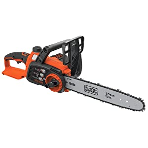 BLACK+DECKER LCS1240B 12-Inch Lithium Ion Chainsaw, 40-volt, Baretool