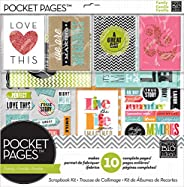me & my BIG ideas SRK-701 Pocket Pages Scrapbook Page Kit, 12 by 12-Inch, Family