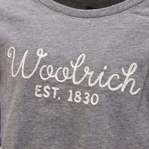 Maglia T Woolrich shirt Manica Sleeve 6622t Grigio Kid Long Bimba Lunga TwqYdqUx