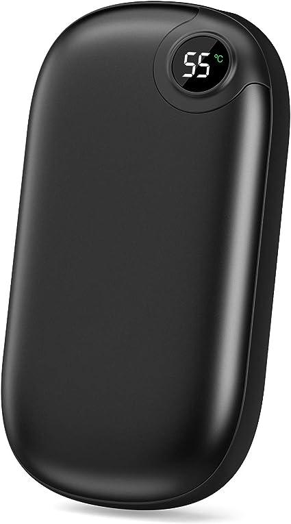 Powerbanks Calentador de manos 10000 mAh, recargable, 3 segundos, con pantalla LED, USB, ideal como regalo de invierno para deportes al aire libre