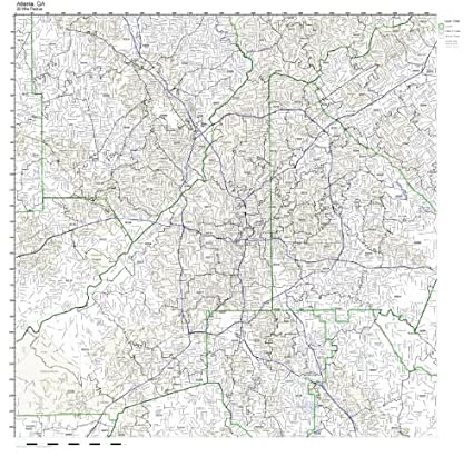 Zip Code Map Of Georgia.Amazon Com Atlanta Ga Zip Code Map Laminated Home Kitchen