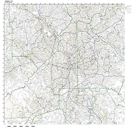 Amazoncom Atlanta GA ZIP Code Map Laminated Home Kitchen - Atlanta georgia map zip codes