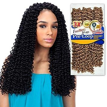 Amazoncom Freetress Synthetic Hair Braids 3x Pre Loop Crochet