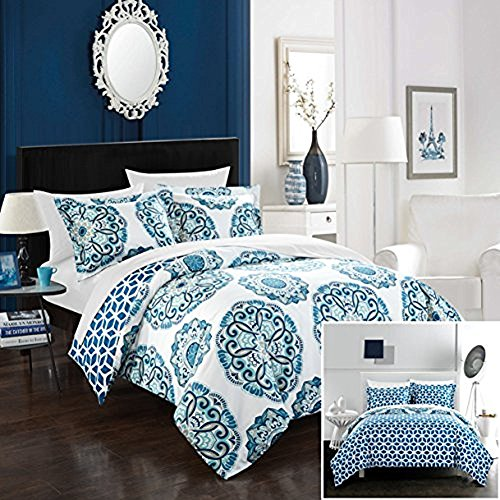 Chic Home Ibiza 3 Piece Duvet Set, Full/Queen, Blue, ()