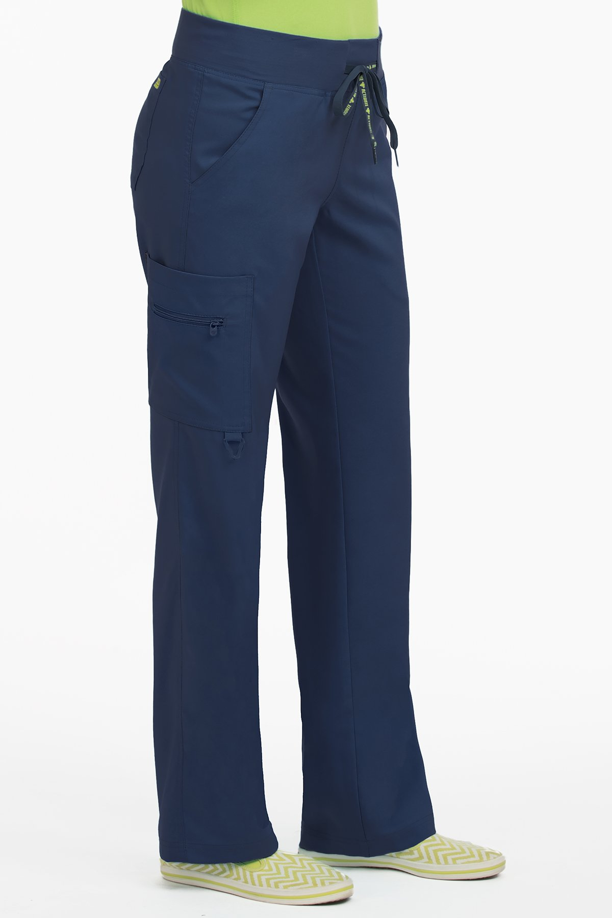7f6010fa011 Galleon - Med Couture Scrub Pants Women, Yoga Cargo Pocket Scrub Pant,  Small, Navy