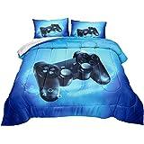 Z.Jian HOME Gaming Comforter for Boys Teen Game Contoller Bedding Set for Kids Down Alternative Comforter for All Season Game