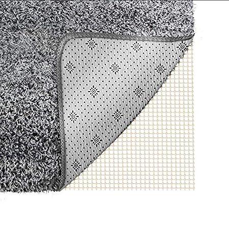 Cucina per Ufficio Ideale per tappeti Antiscivolo Tappetino Antiscivolo per tappeti Camera da Letto Bagno 200 x 80 cm Facile da Pulire Bianco POAO tagliabile Resistente