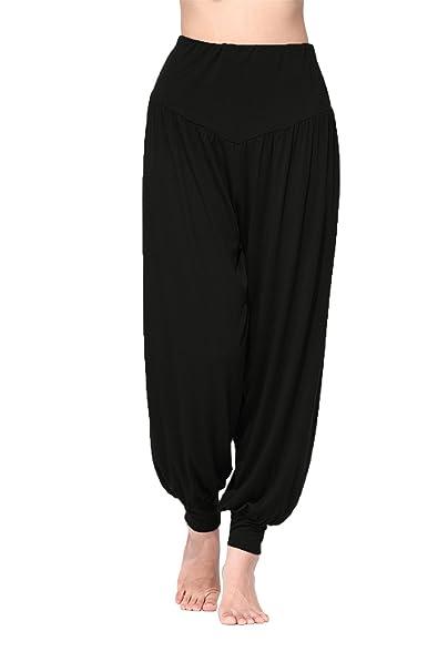 Brauch auf Füßen Bilder von erstklassig BeautyWill Haremshose Jogginghose Yoga Pilates Hosen Freizeithosen Weiche  Modal Lange Hose für Damen