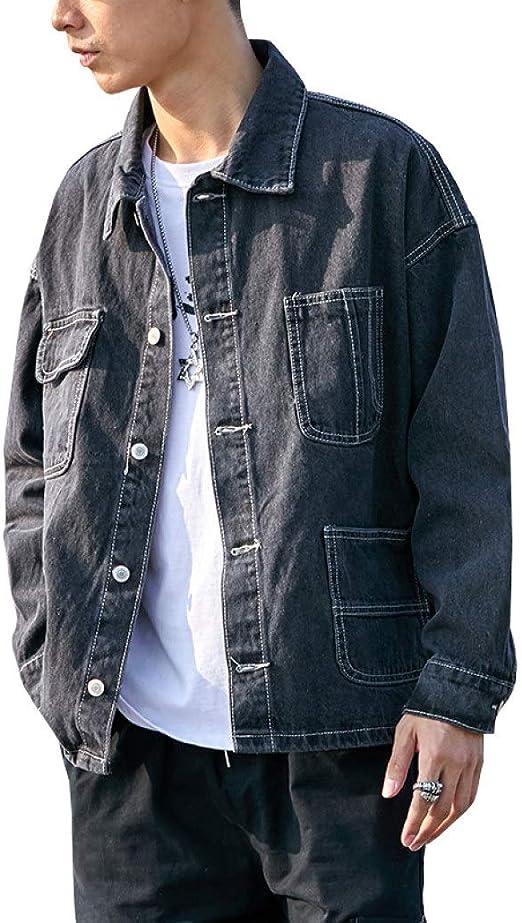 デニムジャケット メンズ 春秋 大きいサイズ ゆったり Gジャン 薄手 快適 防風 防寒 カッコイイ カジュアル ジージャン 合わせやすい 通勤 通学 お出かけ ファッション 無地 ブラック ブルー M-2XL