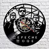Depeche Mode Vinyl Wall Clock, New Year Gift For Him, Depeche Mode Gift, Wall Clock Large, Xmas Gift For Man, Depeche Mode Clock