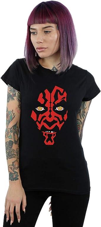 Star Wars Mujer Darth Maul Face Camiseta: Amazon.es: Ropa y accesorios