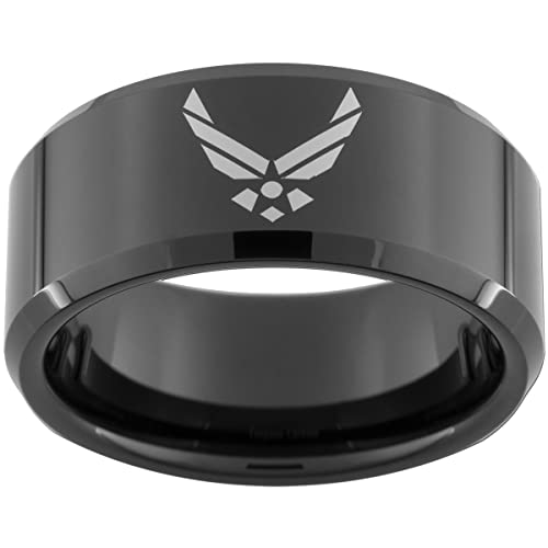 U.S. Air Force Tungsten Comfort Ring