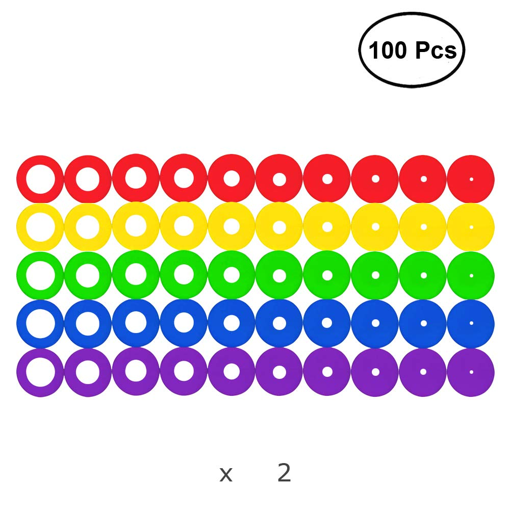 Colorful Stitch Stoppers Large Size Needles Stoppers 100pcs for Knitting/Crochet/etc. (Available in 10 Sizes, Includes 5 Colors, 100 Pieces)