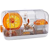 Habitrail Cristal Hamster Cage Kit, Small Animal Cage with Hamster Wheel, Water Bottle and Hideout, 62820A1
