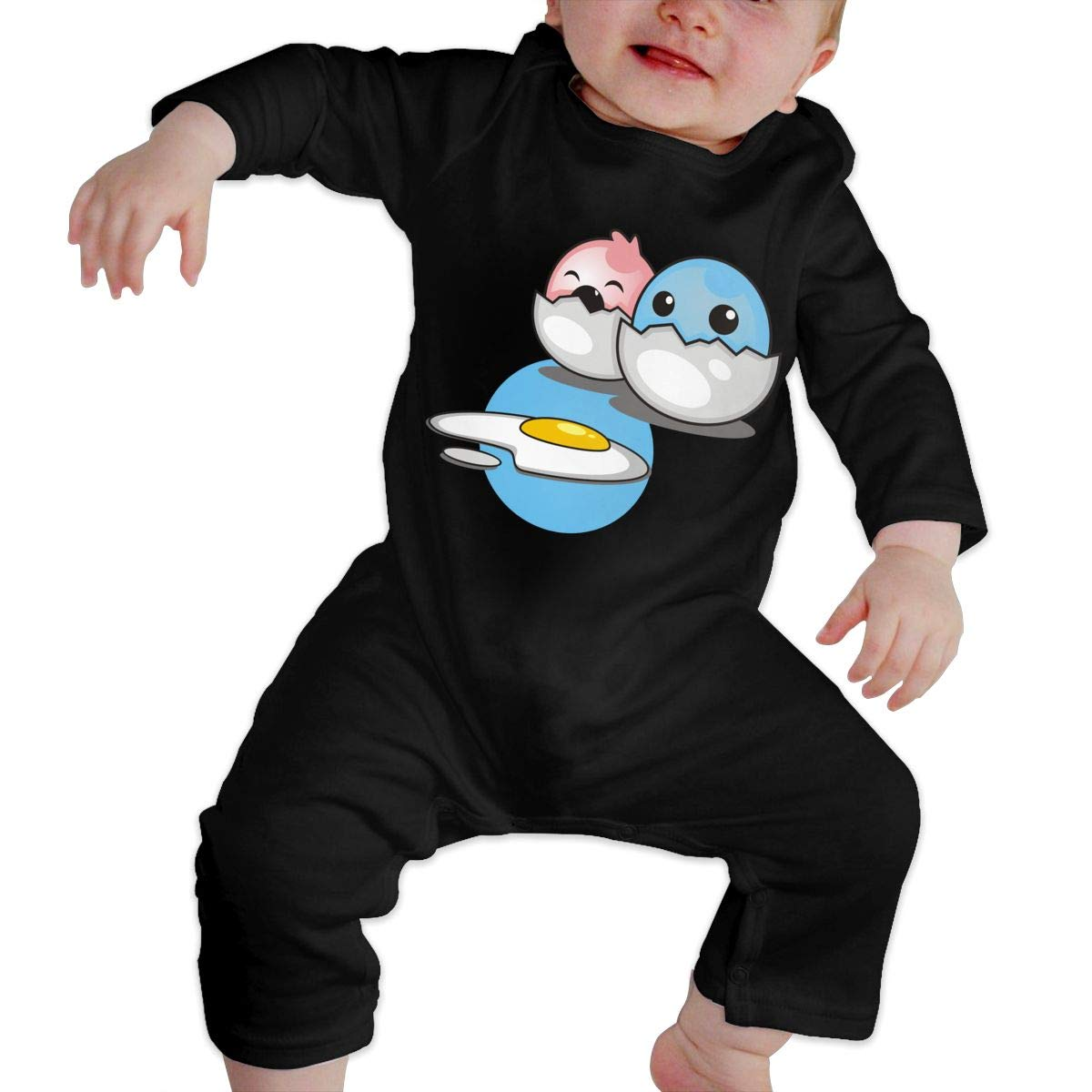 Fasenix Cute Eggs Pink Blue Newborn Baby Boy Girl Romper Jumpsuit Long Sleeve Bodysuit Overalls Outfits Clothes