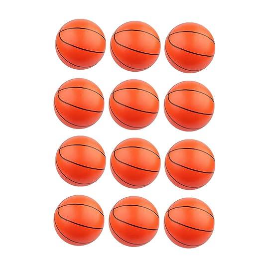 Amosfun 12pcs Mini Pelota de Deporte Inflable de Baloncesto Pelota ...