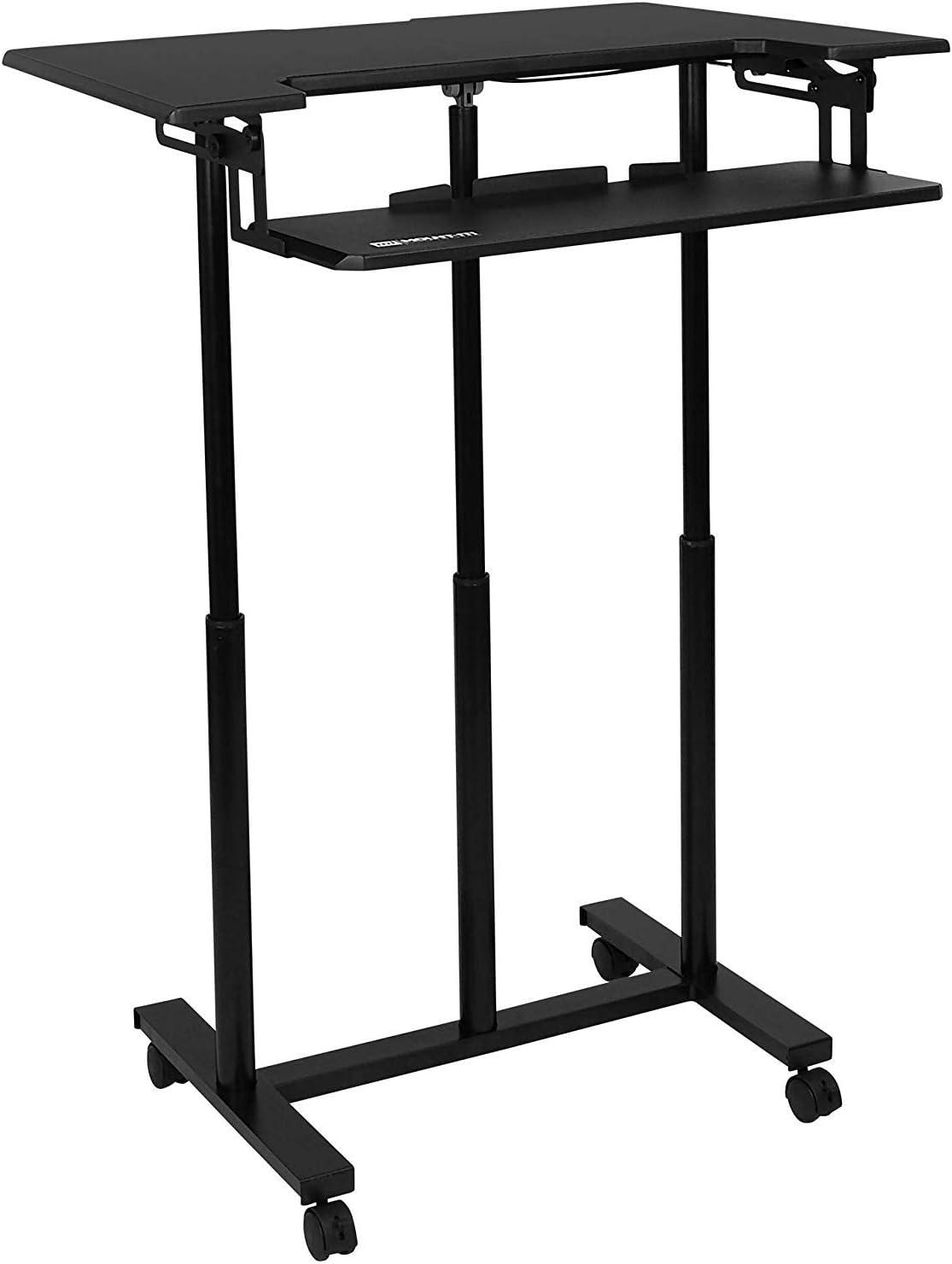 "Sit Stand Adjustable Keyboard Tray 26.5/"" Inch Wide Platform Mount-It"