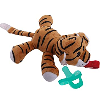 Amazon.com: Tiger – Soporte para chupete de animal pelado ...