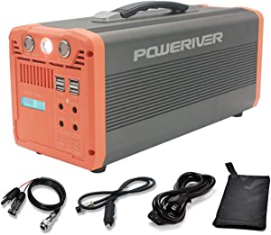 POWERIVIER Portable Power Station,Solar Generator 1000W,Electric generator, Portable power packs UPS Power Supply for Outdoor RV Van Camping CACP Emergency, 1066Wh with 110V AC Outlets 15W USB