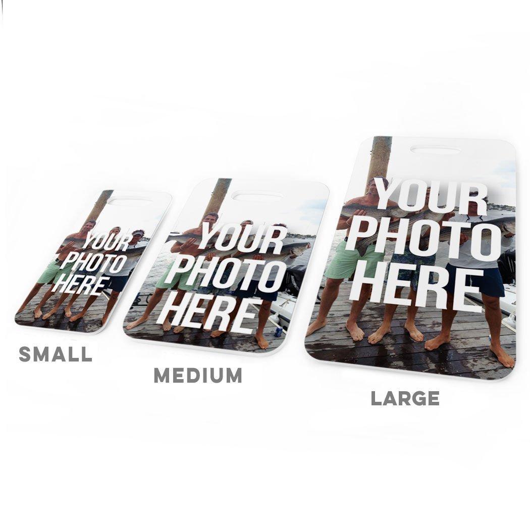Custom Photo LARGE Fly Fishing Luggage /& Bag Tag Standard Lines on Back