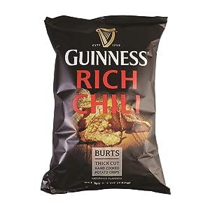 Burt's Guinness Rich Chili Thick Cut Potato Chips, 5.3 Ounce