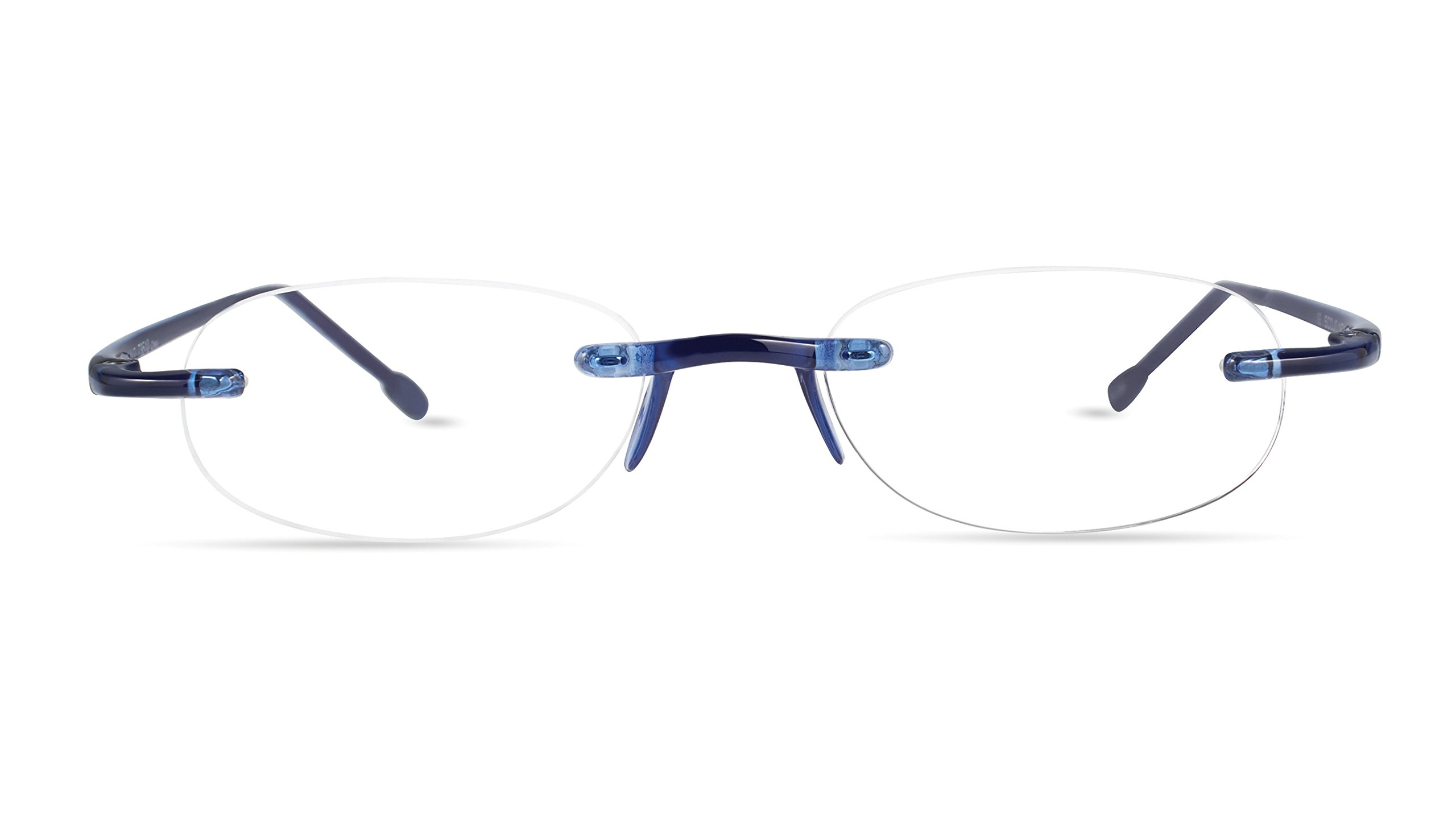 Gels - Lightweight Rimless Fashion Readers - The Original Reading Glasses for Men and Women - Cobalt Blue (+2.50 Magnification Power) by Scojo New York (Image #3)