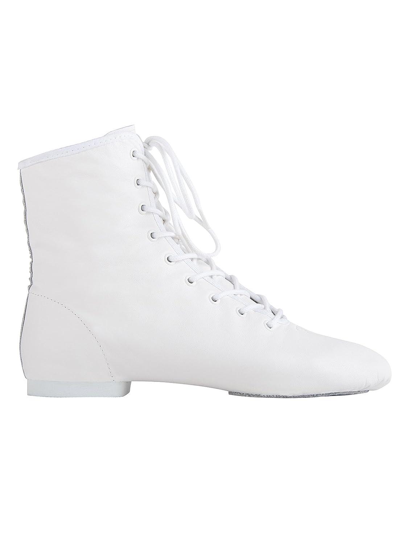 Weiß Rumpf 4127 Gardestiefel hoch Geteilte Chromledersohle Leder Karneval Stiefel