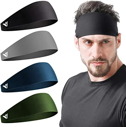 YESON Headbands for Men and Women,Sports Headband Stretchy Moisture Wicking Workout Sweatbands Unisex for Running Training Yoga and Basketball